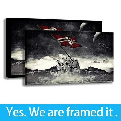 Painting Art Star Wars Stormtrooper Flag HD Print on Canvas Porch Decor Framed