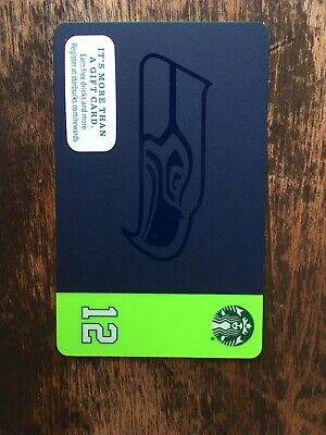 2015 Starbucks SEATTLE SEAHAWKS Gift Card Limited Edition. In Hand Free Shipping