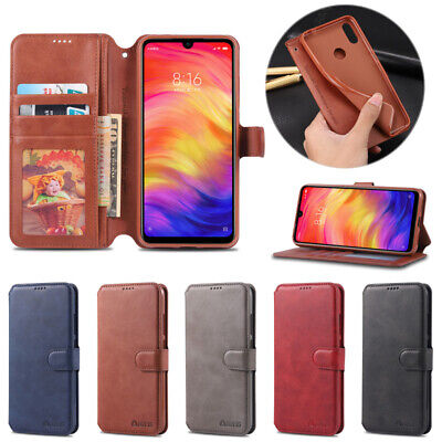 For Xiaomi Redmi 5 Plus 6 Pro 6A 7 Note 7 Wallet Case Leather Flip Cover Stand
