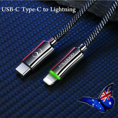 USB-C Type-C to Lightning PD Fast Charging Charger Cable Cord iPhone MAX/X/8/ XS