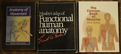 Lot of 3 Human Anatomy Books - Perfect For Artists or Medical Students
