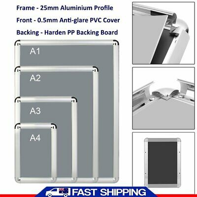 A1/A2/A3/A4 Aluminum Alloy Poster Frame Paper Photo Picture Frame Wall Mount GV)
