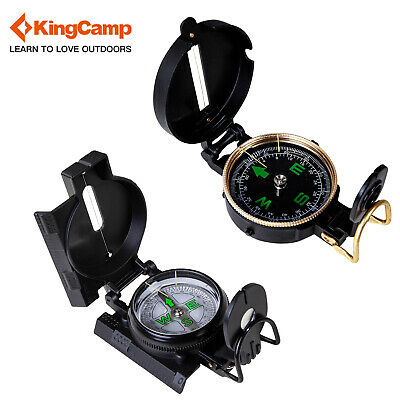 KingCamp Map Lensatic Engineer Directional Compass Hiking Camping Military Gear