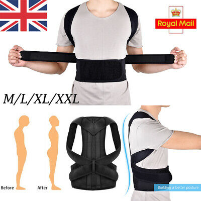 UK Adjustable Posture Corrector Corset Back Brace Support Shoulder Straight Hold