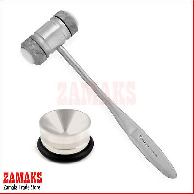 Set Of 2 Implant Mead Bone Mallet Hammer Surgery Amalgam Pot Dentistry Supplies