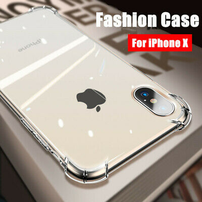 Slim Shockproof Transparent Rubber Case Cove For iPhone XS Max XR X 8 7 6s Plus