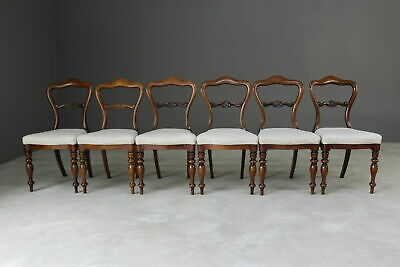 Set 6 Antique Victorian Rosewood Dining Chairs