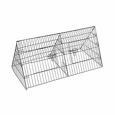 "NEW! 48"" Metal Triangle Rabbit Guinea Pig Pet Hutch Run Cage Playpen"