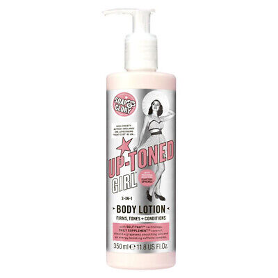 Soap & Glory UP-TONED GIRL 3-in-1 Body Lotion With Radiance Boosting 350ml - New