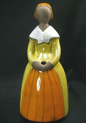 Jie Gantofta Girl with Orange Apron Bud Vase Ceramic Sculpture Sweden EVC