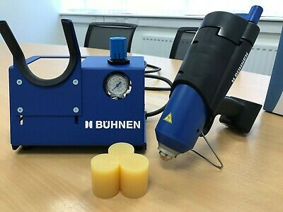 Búhnen HB 710 Spray adhesive glue gun &  2 x 10kg hot melt spray adhesive slugs
