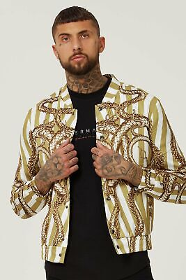 Hermano Snake Stripe Bomber Jacket