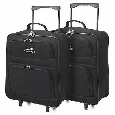 5 Cities Ryanair 55x40x20cm Trolley Folding Cabin Hand Luggage Suitcase Set