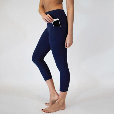 Women Yoga Fitness Leggings Running Gym Stretch Sports Pants Trousers Exercise T