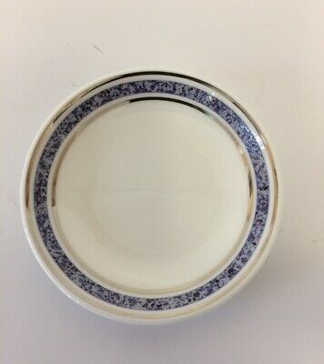 """BRITISH AIRWAYS FIRST CLASS - Royal Doulton Blue Rimmed Pocelain 3"""" Mini Dishes"""