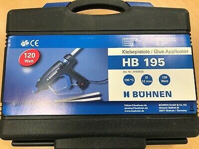 Búhnen HB 195 12MM hot melt glue gun with case