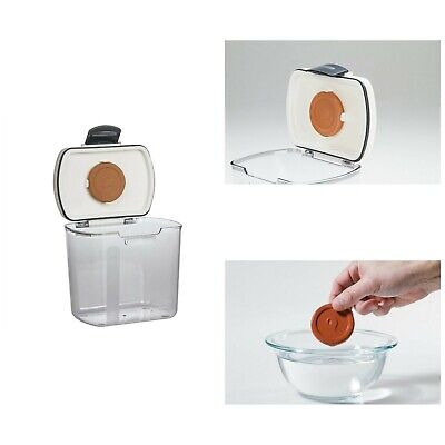 Sugar Storage Containers Silicone Sealant Clear Stainless Steel Hinges Air Tight