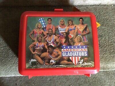 American Gladiators Lunchbox New Tags 1992 Unused Lunch Box- Includes Thermos!