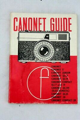 canon CANONET Guide by 'Focal Press', 1973