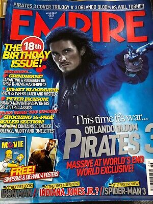 JOHNNY DEPP COVER / 18th BIRTHDAY ISSUE  Empire No. 216 June 2007