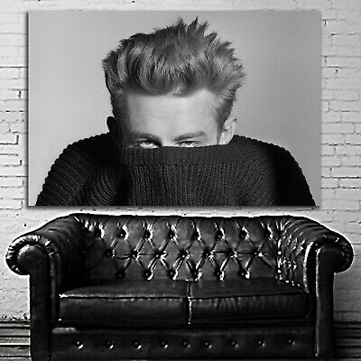 James Dean Camera Hollywood Icon Black And White Photograph Poster 20x16 Inch