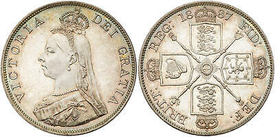 GR. BRITAIN. Victoria1887 AR Double Florin. NGC MS65 S-3923; Attractively toned.