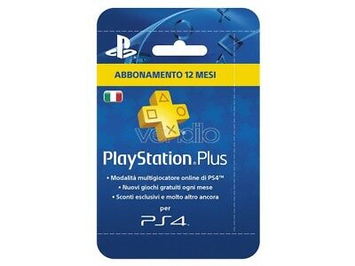Sony Psn Ps Plus Hanging Tarjeta 12 Meses PLAYSTATION Network - Cards / Dlc