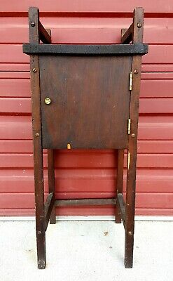 Primitive Cigar Humidor Smoking Stand Table Florida Folk Ca.1930 Antique Vintage