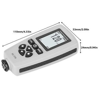 Digital Coating Thickness Tester Car Paint Film Gauge Testing Non-magnetic