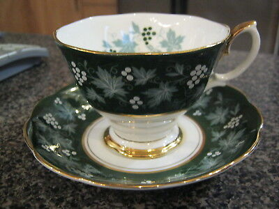 Royal Albert Teacup Cup Saucer Chateau Series - Lyons - Malvern Shape Gold Trim