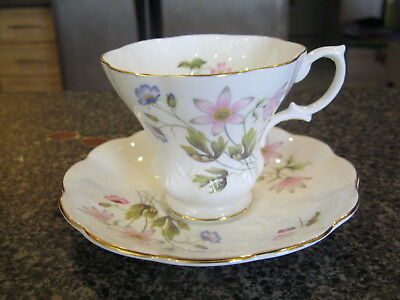 Royal Albert Teacup Cup Saucer Pink & Blue Flowers Floral Friendship Series?