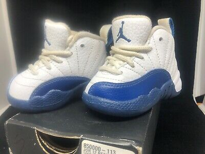 320432e540be3 BABY AIR JORDAN 12 Retro XII French Blue Soft Bottoms Size 3c Gift ...