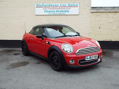 2012 62 Mini 1.6 122bhp Cooper Coupe Pepper, Bluetooth, Lovely car