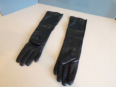 c4cb33f62 VEMOLLA Womens Winter Long Evening Dressing Genuine Leather Gloves Fleece  Lined
