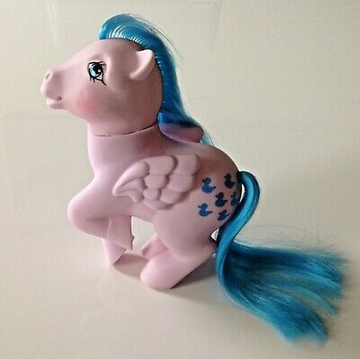 1983 G1 My Little Pony Sprinkles Six Blue Rubber Ducks Hong Kong