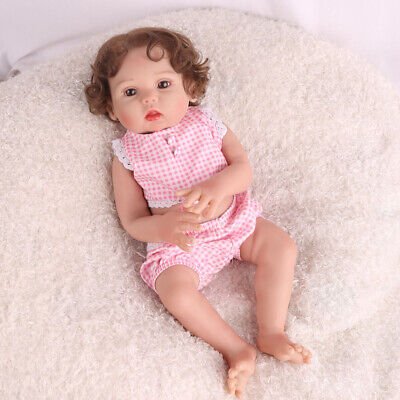 "16"" Full Body Reborn Baby Dolls Silicone Vinyl Realistic Xmas Gifts Doll Girl"