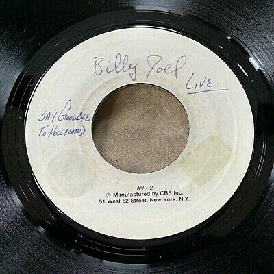 Billy Joel - Say Goodbye to Hollywood test pressing 45 Columbia VG+