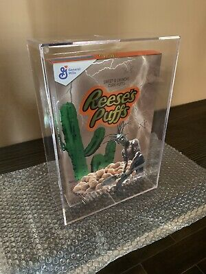 Travis Scott Reese's Puffs Cereal  - IN HAND - LIMITED - With Acrylic Case