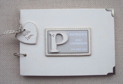 Personalised  Holy Communion  .A5  Size     Photo Album/Scrapbook/Memory Book.