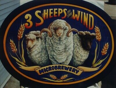 """Linda McFadden tole painting pattern """"Three Sheeps to the Wind"""""""