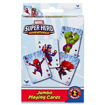 """NEW Marvel """"Super Hero Adventures"""" Jumbo Playing Cards Ages 4+"""