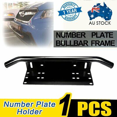 Number Plate Bullbar Frame For Driving Light Bar Mount Mounting Bracket UHFC