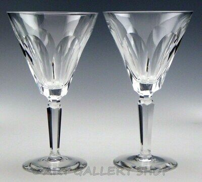 "Waterford Crystal SHEILA 7"" WINE WATER GOBLETS GLASSES Set of 2"