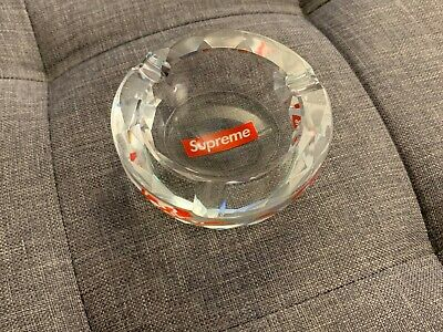 Supreme - Diamond Clear Crystal Cut Ashtray Box Logo FW13 2013