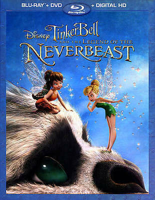 Tinker Bell and the Legend of the NeverBeast (Blu-ray/DVD, 2015, 2-Disc Set,...