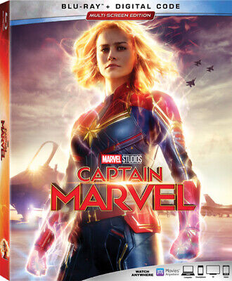 CAPTAIN MARVEL Blu-ray and Digital 2019 SEALED w/ Slipcase