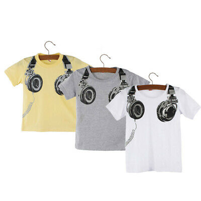 Toddler Kids Baby Boys Girls T Shirt Tops Summer Short Sleeves Blouses Clothes