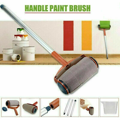 5PCS Paint Runner Pro Roller Wall Brush Painting Room Handle Edger Flocked tool