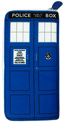 DOCTOR WHO - Tardis Ladies Clutch Wallet 20cm x 10cm (Ikon Collectables) #NEW