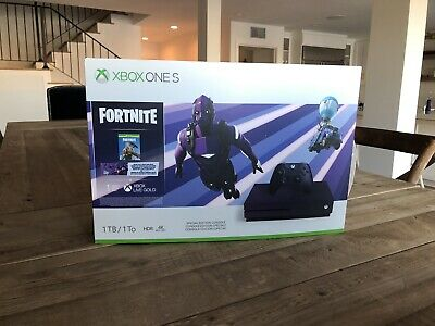 Xbox One S Fortnite Bundle 1tb Purple Limited Edition Pack